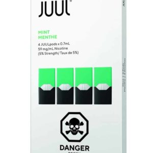 JUUL Mint Pods Canada (Pack of 4) – 1.5%, 3%, 5%